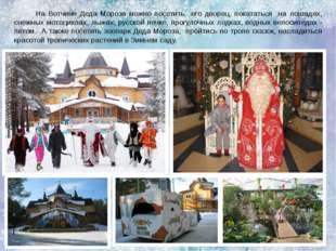 На Вотчине Деда Мороза можно посетить  его дворец, покататься  на лошадях, сн