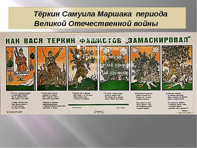 Тёркин Самуила Маршака периода Великой Отечественной войны