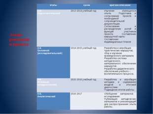 Этапы реализации проекта этапы сроки краткое описание  1-й, Подготовительный