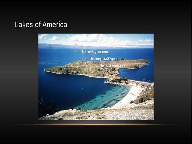 Lakes of America