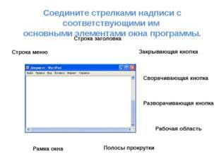 Строка меню Строка заголовка Закрывающая кнопка Сворачивающая кнопка Разворач