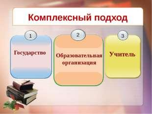 www.themegallery.com Н Комплексный подход 1 Государство 2 Образовательная орг