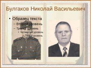 Булгаков Николай Васильевич