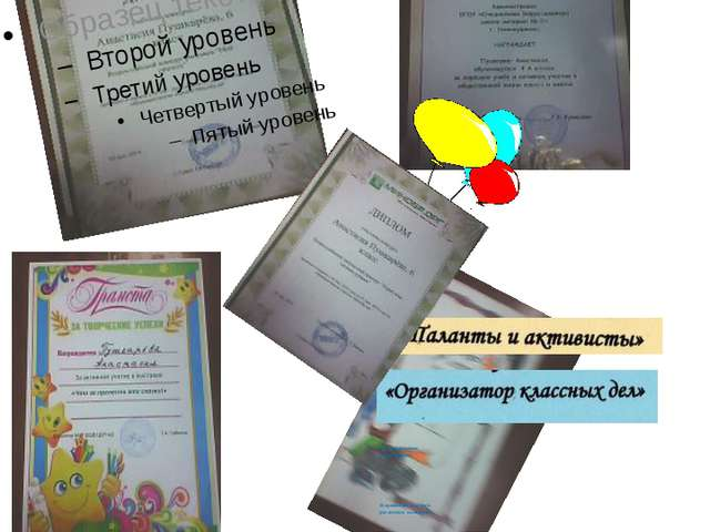 Я – активный участник Мои достижения в номинациях Я принимаю участие в различ...