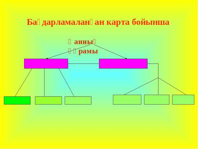 Бағдарламаланған карта бойынша Қанның құрамы