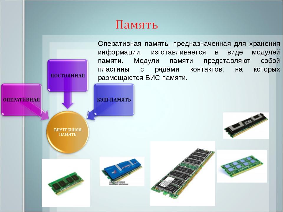 Оперативная память, предназначенная для хранения информации, изготавливается...