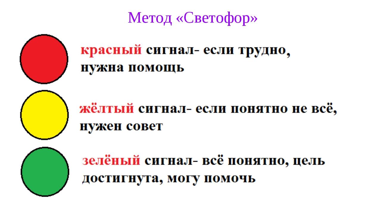 Метод «Светофор»