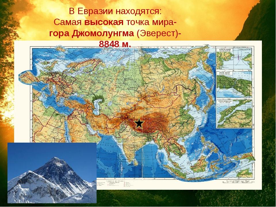 Где находятся эверест горы на карте мира