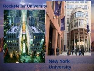New York University Rockefeller University
