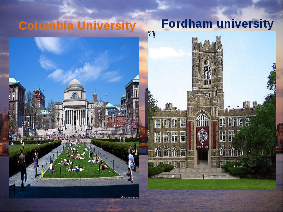 Columbia University Fordham university