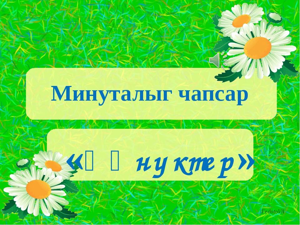 Минуталыг чапсар «Ѳңнүктер» FedotoVA