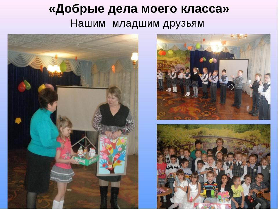 «Добрые дела моего класса» Нашим младшим друзьям