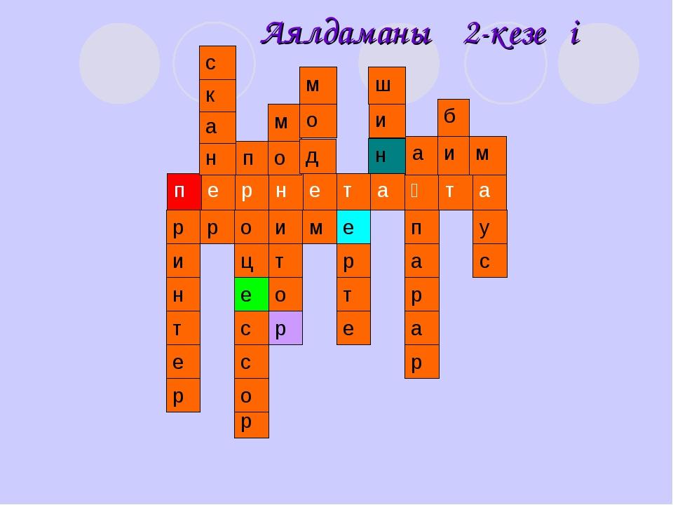 Аялдаманың 2-кезеңі н а к с п о м д о м н и ш а и б м