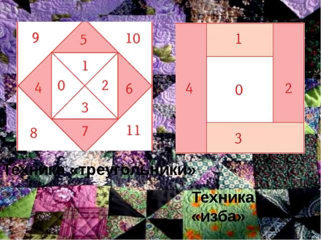 Техника «треугольники» Техника «изба»
