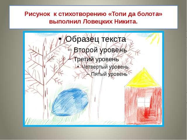 Рисунок к стихотворению «Топи да болота» выполнил Ловецких Никита.