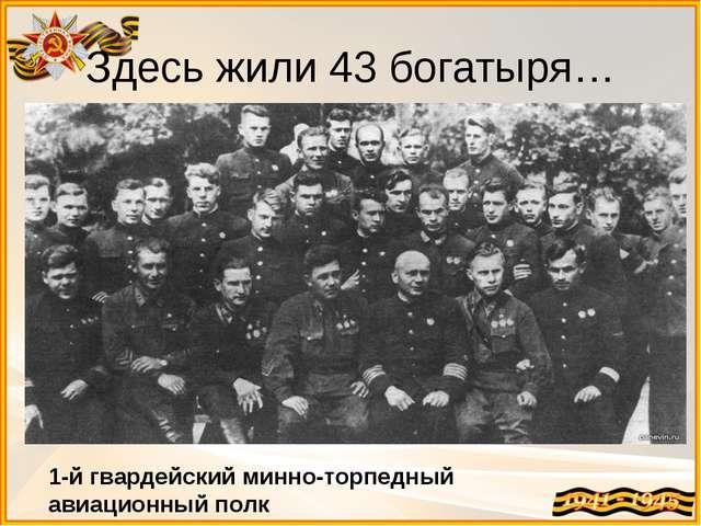 Здесь жили 43 богатыря… 1 1-й гвардейский минно-торпедный авиационный полк