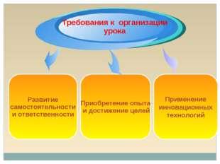 Применение инновационных технологий Развитие самостоятельности и ответственно