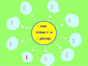Ә Ғ Қ Ң Ө Ұ Ү І Һ Қазақ тіліне тән әріптер