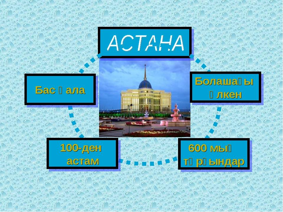 Бас қала Болашағы үлкен 100-ден астам 600 мың тұрғындар