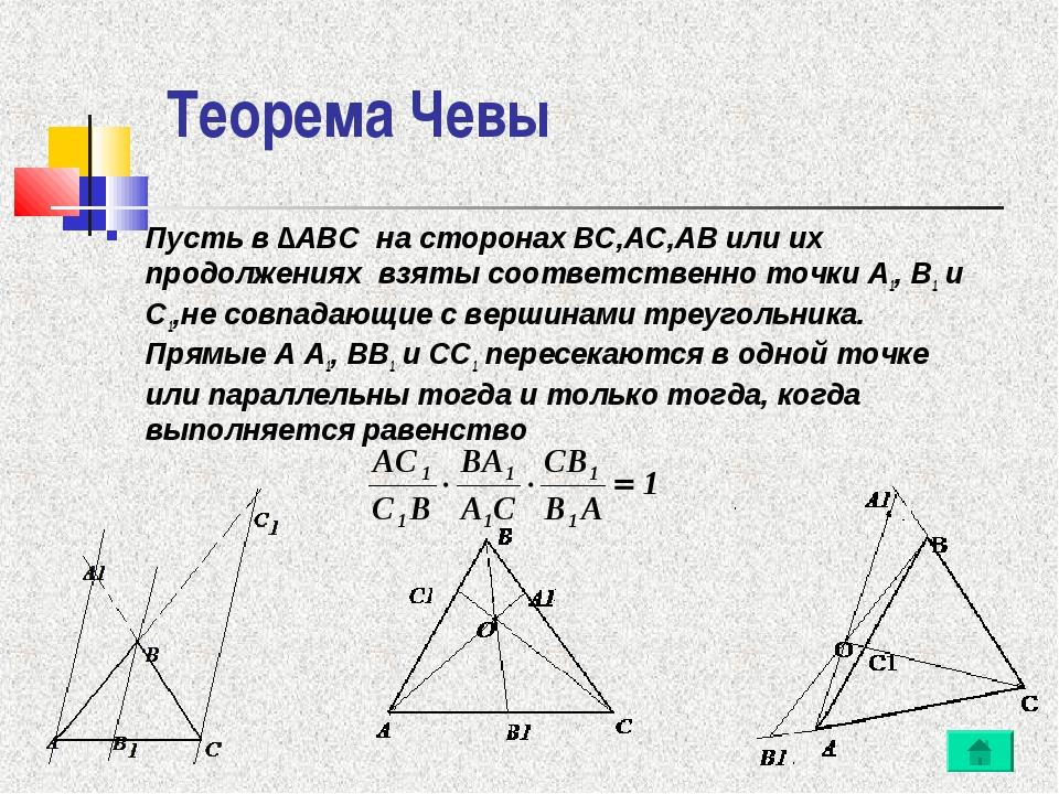 Теорема менелая и чевы реферат 415