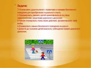 Задачи: 1.Познакомить дошкольников с правилами и нормами безопасного поведени