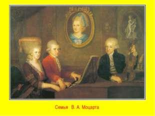 Семья В. А. Моцарта