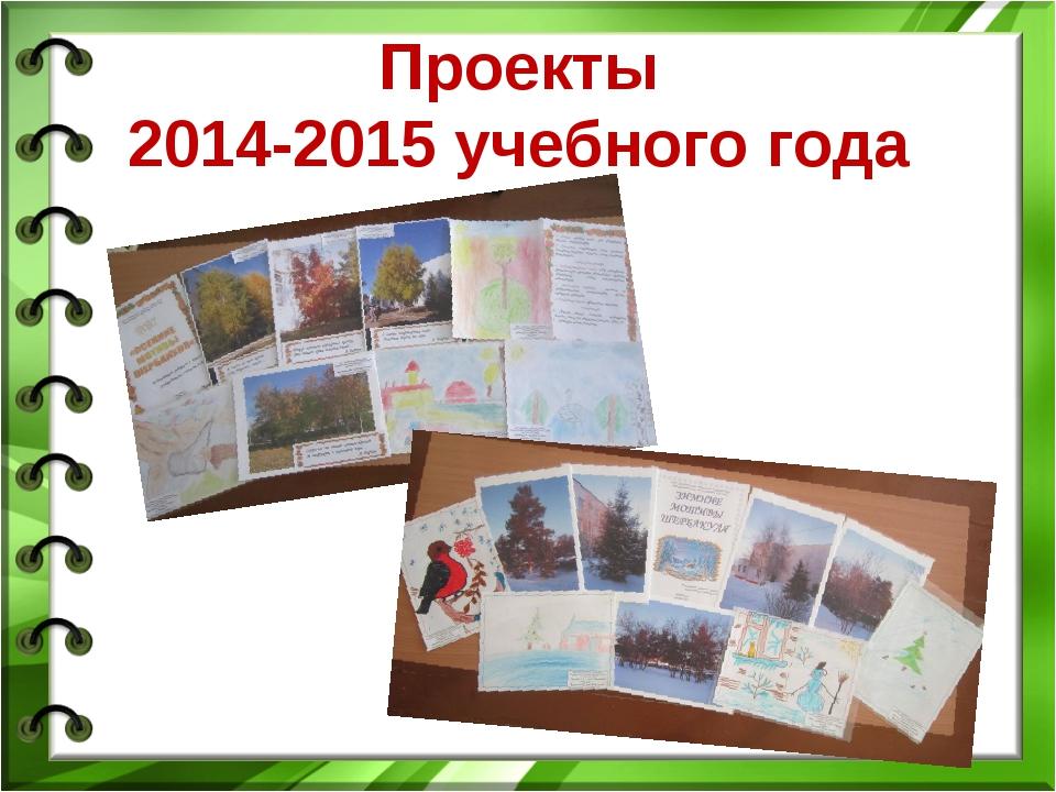Проекты 2014-2015 учебного года