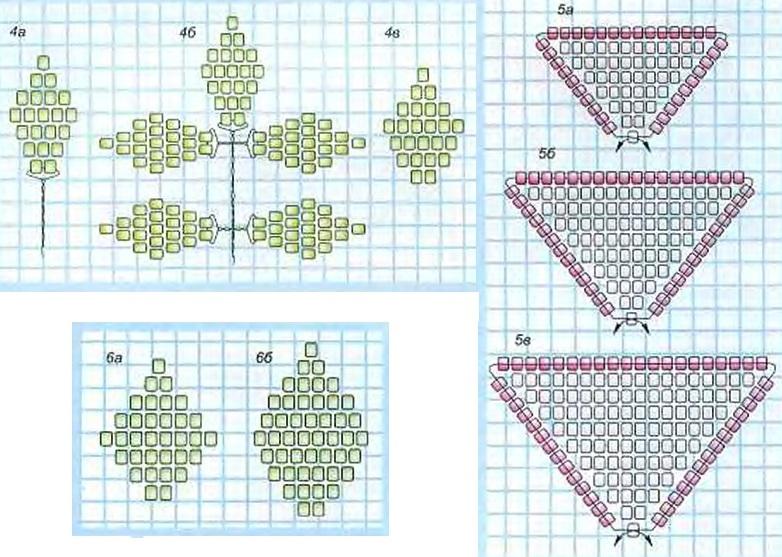 Схемы плетение розы из бисера и схемы