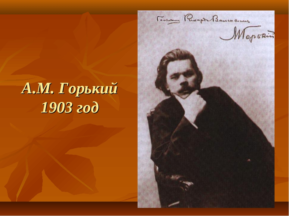 А.М. Горький 1903 год