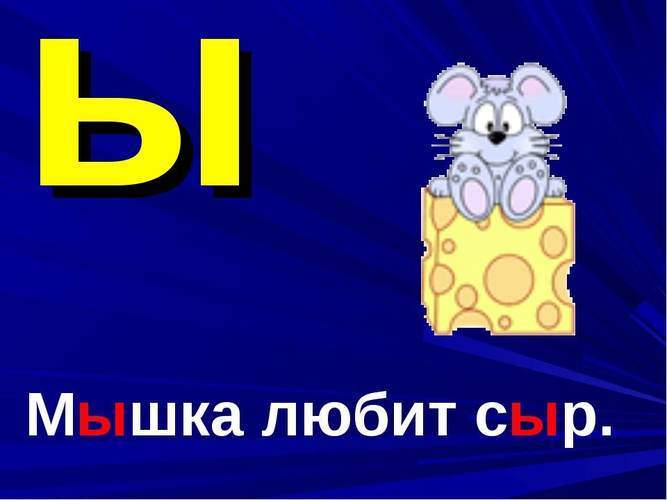 ы Мышка любит сыр.