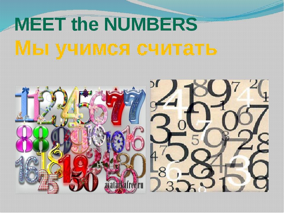 MEET the NUMBERS Мы учимся считать