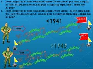 Егер солдаттар күніне жоспарлағаннан 70 км кем жүрсе, онда олар 22 күнде 1941