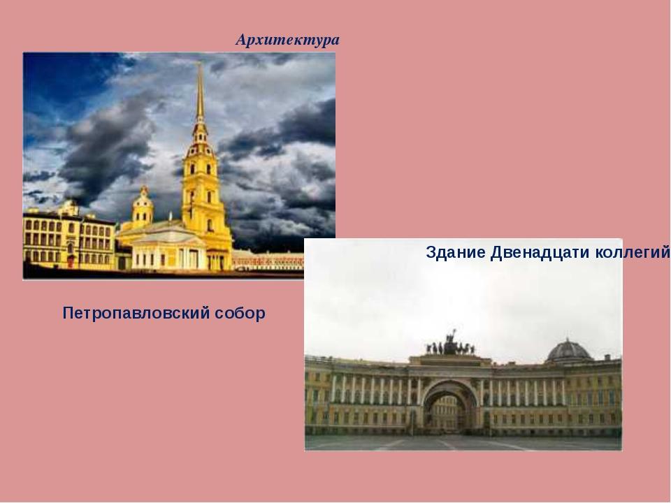 Архитектура Петропавловский собор Здание Двенадцати коллегий