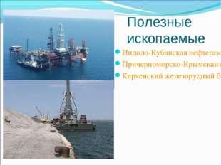 Полезные ископаемые Индоло-Кубанская нефтегазоносная область Причерноморско-К
