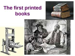 The first printed books