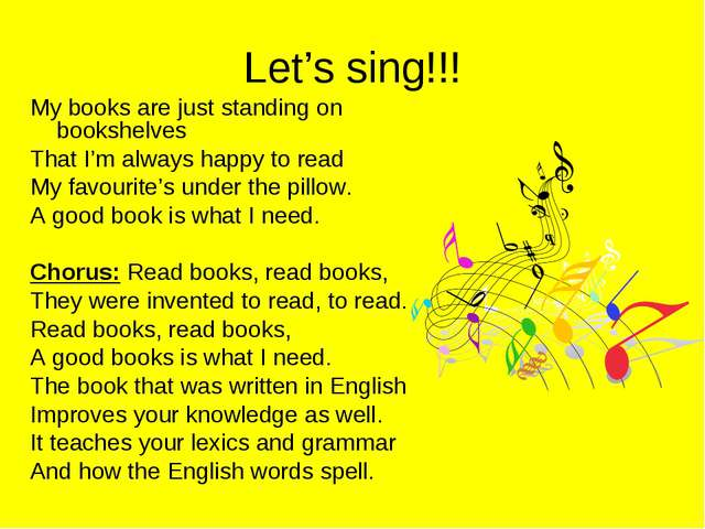 Let's sing!!! My books are just standing on bookshelves That I'm always happy...