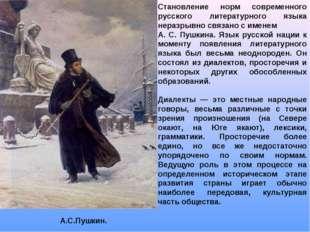 Становление норм современного русского литературного языка неразрывно связано