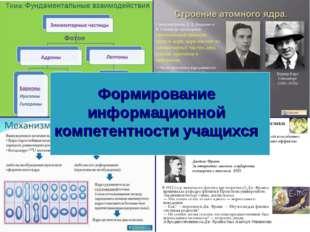 Формирование информационной компетентности учащихся
