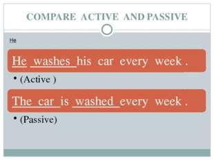 COMPARE ACTIVE AND PASSIVE