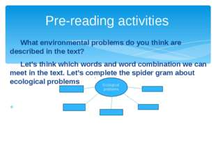 What environmental problems do you think are described in the text? Let's t