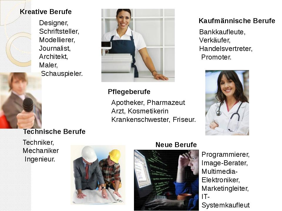 Designer, Schriftsteller, Modellierer, Journalist, Architekt, Maler, Schauspi...