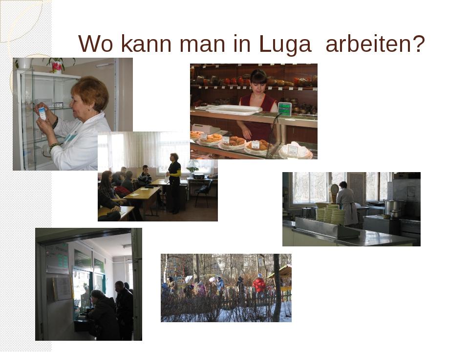 Wo kann man in Luga arbeiten?