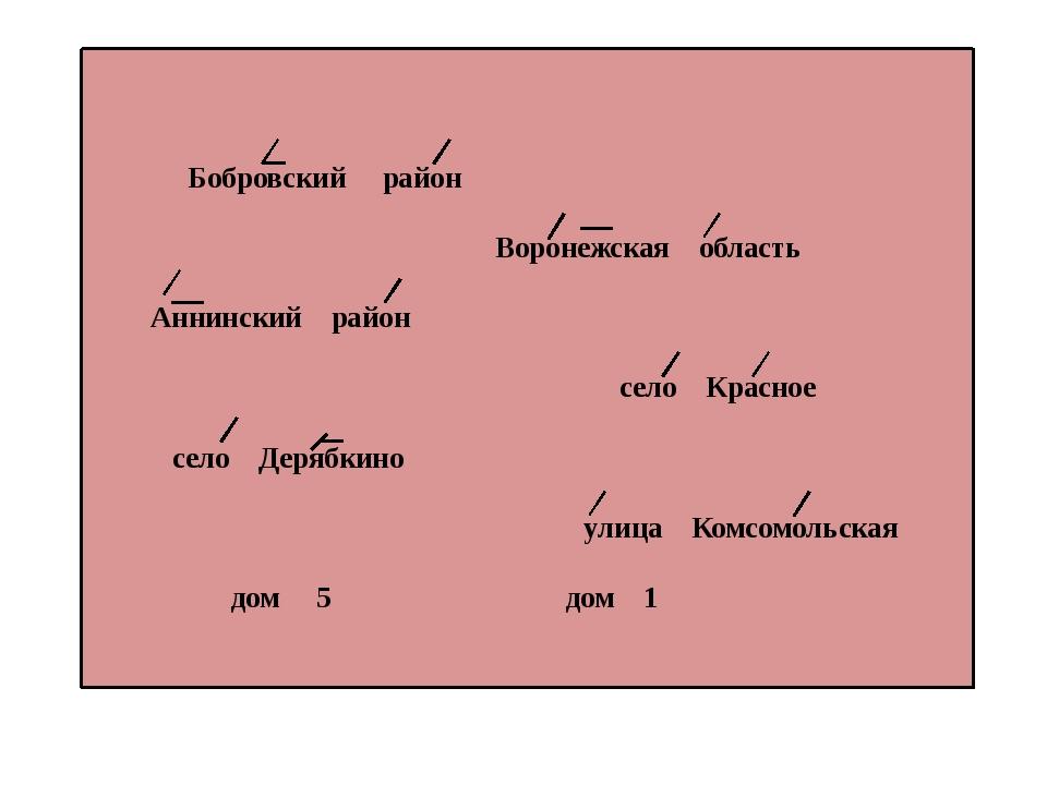Бобровский район Воронежская область Аннинский район село Красное село Деряб...
