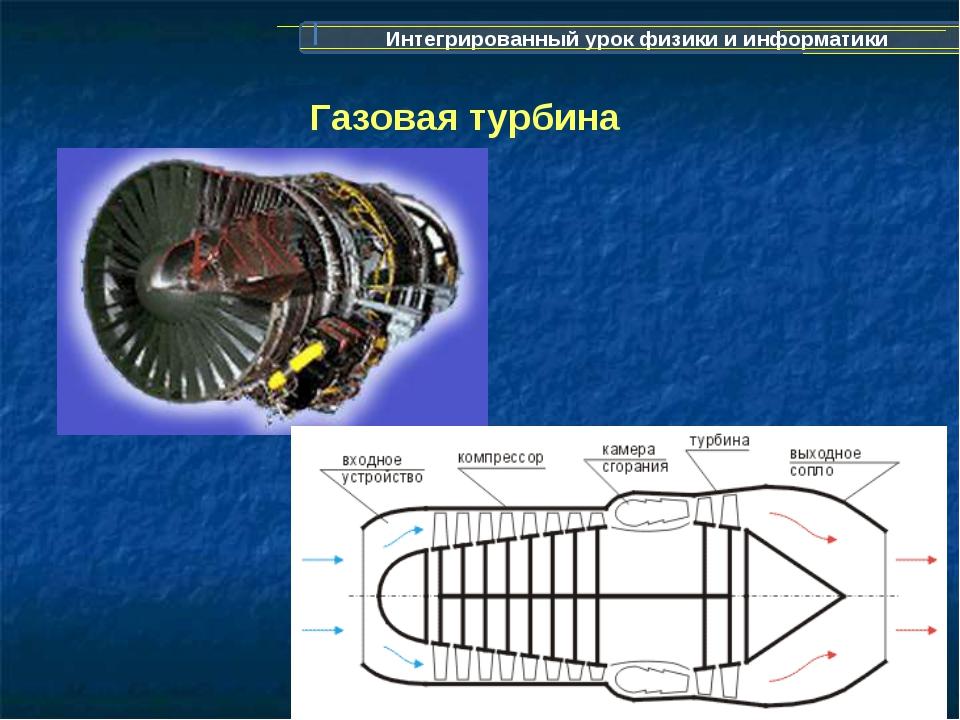 Интегрированный урок физики и информатики Газовая турбина