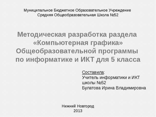 Информационная карта ФИО: Булатова Ирина Владимировна Год рождения: 1990 Обра...