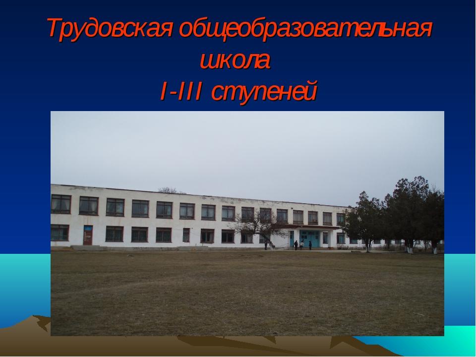 Трудовская общеобразовательная школа I-III ступеней