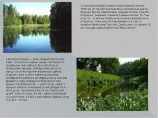 1.Река Апочка берёт начало в селе Верхние Апочки. Течёт на юг. На реке распол