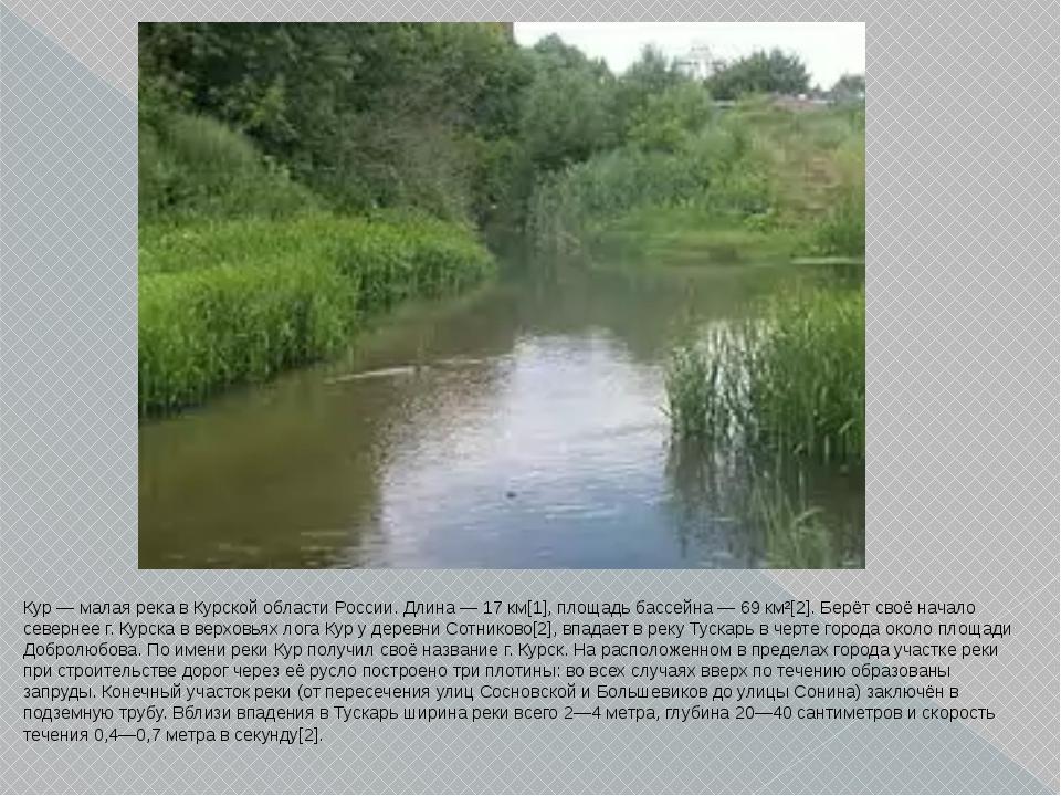 Кур — малая река в Курской области России. Длина — 17 км[1], площадь бассейна...