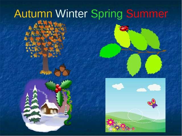 Autumn Winter Spring Summer