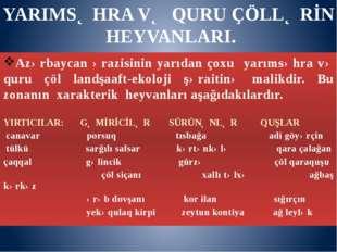 Azərbaycan ərazisinin yarıdan çoxu yarımsəhra və quru çöl landşaaft-ekoloji ş